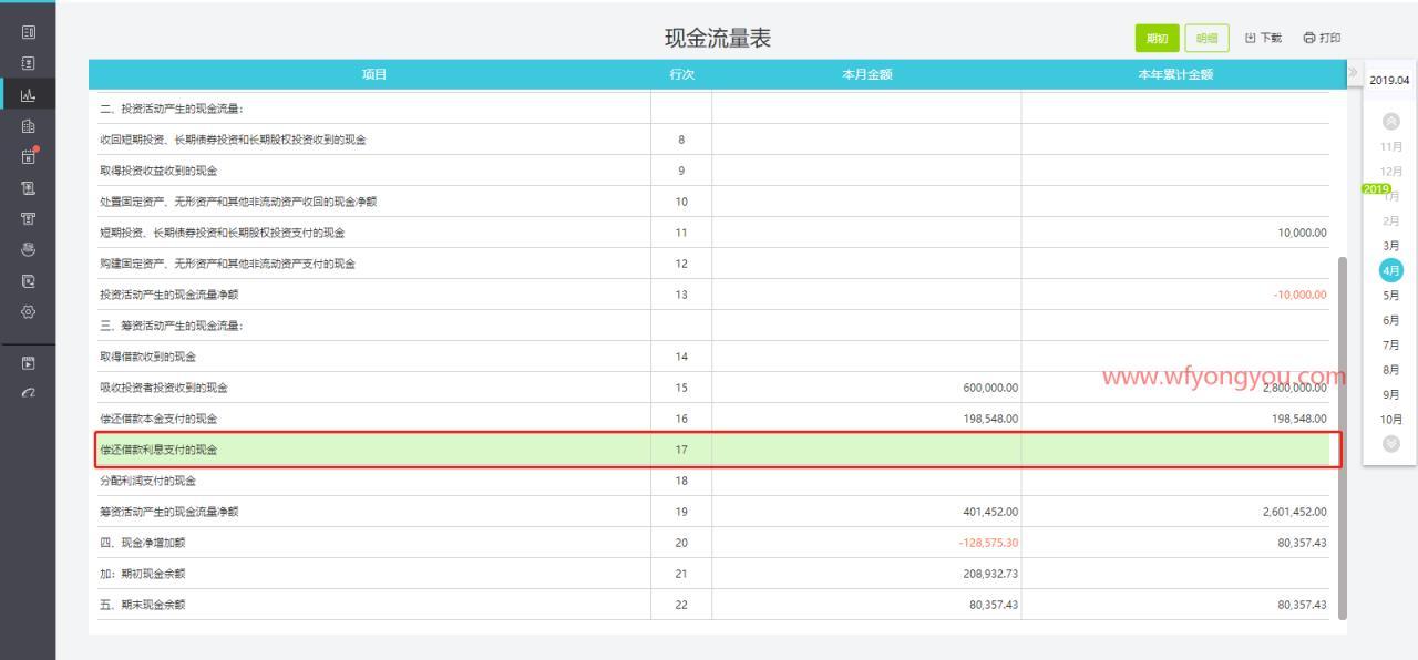 用友畅捷通好会计财务软件中的现金流量表中明细选错了该怎么办? 好会计问答 第2张